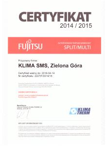 Certyfikat Fujitsu